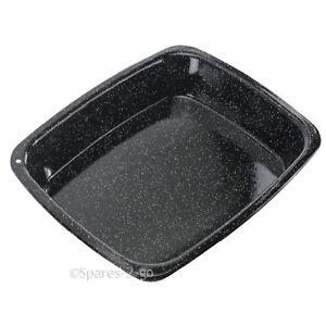 Vitreous Enamel White Speckled Roasting Tin Oven Baking Tray Deep Non Stick Pan
