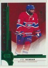 2016-17 Artifacts Emerald Green 112 P.K. Subban /99 Montreal Canadiens