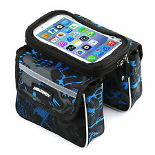 "1PC Waterproof Bike Bicycle Cycling Front Tube Frame Double Bag for 5.7"" Phone"