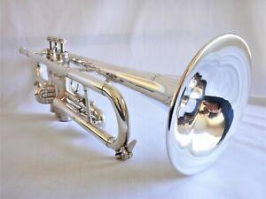 Trompette Gaudet-A.Courtois modèle 412 Sib/UT argentée n° 74449 comme neuve, 90'