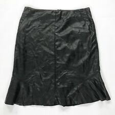 Ann Taylor Women's Faux Vegan Leather Trumpet Skirt  Black Size 6
