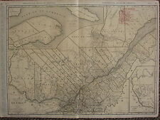 1922 LARGE AMERICA MAP ~ QUEBEC RAILROADS PRINCIPAL CITIES RAND MCNALLY