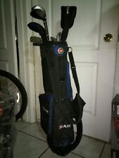 Left Ram Pro Gold Series Golf Clubs Authentic Equipment in its bag, 12 Clubs.