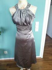 Abendkleid mit Strasssteinen Gr. 34/36   wunderschön Silber graues Kleid, glänzt