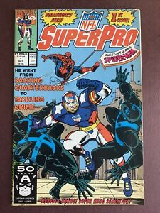 NFL SuperPro #1 - Spider-Man Appearance! (Marvel 1991)