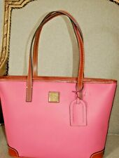 DOONEY BOURKE BUBBLE GUM PINK CHARLESTON PEBBLE GRAIN TOTE SHOULDER BAG NWT $238