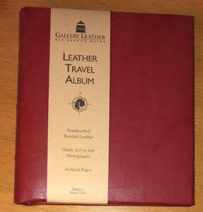 "Gallery Leather Travel Album 5""x6"" Bar Harbor, Maine NEW!"