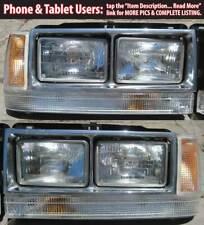 Volvo 740 760 Quad Headlights USA Style Kit NEW LIGHTS! 83-89 Turbo Dual IPD GLE