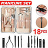 Manicure Set Pedicure Kit Nail Clippers Professional Grooming Kit / Case 18 In 1