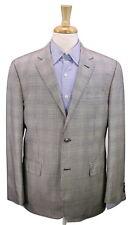 * VALENTINO * Very Recent Black/White/Orange Plaid Wool-Silk 2-Btn Blazer 42R