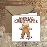 CHRISTMAS CARDS, LOCKDOWN, QUARANTINE Happy Xmas from Tier 1,2 or 3 PACK OF 5