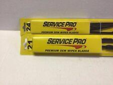 "Pair(2) Windshield Wiper Blades J-HOOK ONLY Service pro 24""& 21"" INCH All Season"