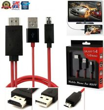 MHL Micro USB to HDMI Cable Adapter Samsung Galaxy S3 S4 S5 Note 2 Tab3 HDTV 2M