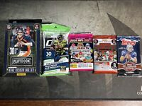 NFL sealed box and packs with Rare Topps 2012 pack. Russell Wilson Rookie Year.