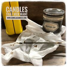 Motor Oil Scented Man Candle