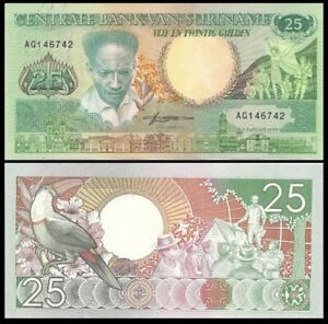 SURINAME 25 Gulden, 1988, P-132, UNC World Currency