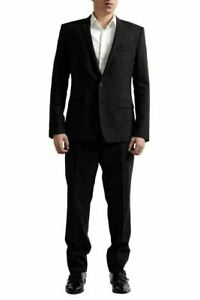 "Dolce & Gabbana ""Gold"" Tailored Men's Deep Brown Virgin Wool Suit US 42 IT 52"