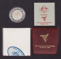 1982 Silver Proof $10 Coin Brisbane Commonwealth Games Australia Sport