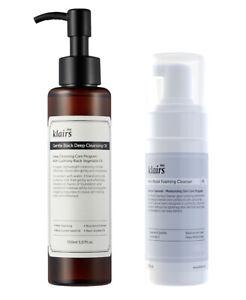 Klairs Rich Moist Foaming Cleanser + Gentle Black Deep Cleansing Oil (2-pack)
