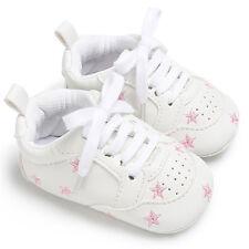 Fashion Baby Toddler Infant Boy Girl Soft Sole PU Prewalker Crib Shoes 0-18Month