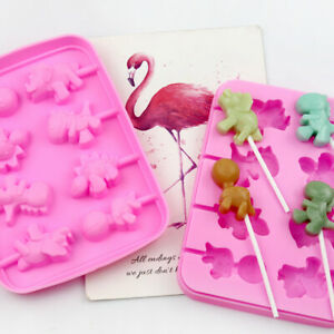 Silicone Halloween Dog Cat Lollipop Chocolate Mould Candy Lolly Mold + 20 Sticks