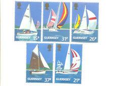 Yachts-Sailing set-Guernsey mnh