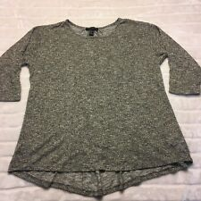 Forever 21 Ladies Plus Size 2X Silver Light Weight Sheer Blouse w/ pinned back