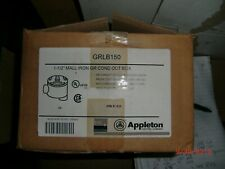 APPLETON ELECTRIC GRLB150 Conduit Outlet Body, Iron, 1-1/2 Inch