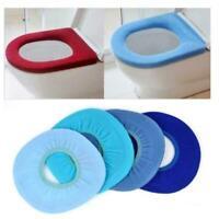 Bathroom Toilet Seat Closestool Washable Soft Warmer Cushion Mat Pad Cover