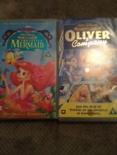 Walt Disney Classics - Oliver And Company & The Little Mermaid VHS Videos
