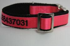 Exklusives Hundehalsband Farbe pink mit Namen und/oder Telefonnummer bestickt