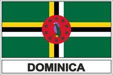 """DOMINICA Bandiera Dominique Commonwealth Adesivi in Vinile 110mm 4,3/"""" Sticker x2"""