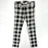 Tripp NYC Womens Jeans Size 3 Juniors Punk Stretch Plaid Skinny Low Rise