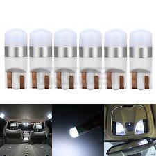 6pcs LED Bright White T10 Interior Light bulbs W5W 2825 158 192 194 6000K