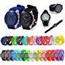 Colorful Silicone Geneva Wrist Watch Unisex Kids Boys Girls Quartz Analog Sports