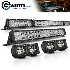 """54Inch 4000W LED Light Bar Combo + 22"""" +4"""" CUBE PODS OFFROAD SUV For Ford 52/20"""""""