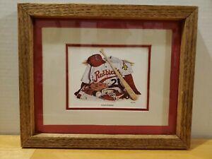 1980's Louisville Redbirds Echoes of Summer Richard J. Polk Jr. Framed Artwork