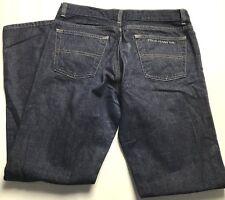 Ralph Lauren Polo Dark Blue Jeans Womens Sz 10 Rhinestone Signature Bootcut L 31