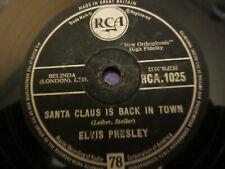 ELVIS PRESLEY78RPM SANTA CLAUS IS BACK IN TOWN/SANTA BRINGS MY BABY BACK(RCA1025