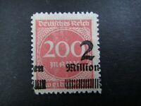 Germany 1922 1923 ERROR Stamp MNH Wmk Overprint Surcharged Deutsches Reich Germa