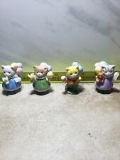 4 Lot Cat Figurines