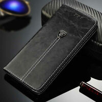 Luxury Leather Case Magnetic Flip Card Wallet Cover For iPhone Samsung Galaxy