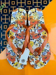 Tory Burch PVC Flip Flop Flops Thong Sandals Canyon Orange Blossom MANY SIZES