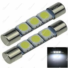 2X 32MM TS-14V1C 3 SMD 5050 LED Interior Dome Lamp Fuse Festoon Bulb Auto ZI402