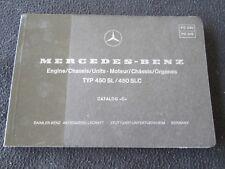 1977 1976 Mercedes Benz 450SL 450SLC Parts Catalog C W107 Engine Chassis Book