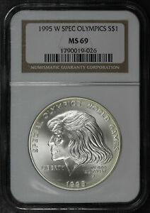 1995-W Special Olympics $1 Silver Dollar Commemorative NGC MS-69