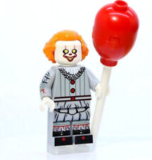 A366 Lego CUSTOM PRINTED INSPIRED PENNYWISE MINIFIG it horror movie clown scarey