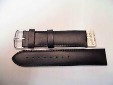 Cinturino Hirsch Vera Pelle nero, Resistente all'Acqua, Anse N. 20 e 22 mm