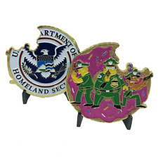 A-011 Green Police Task Force Simpsons inspired Donut Challenge Coin Sheriff Bor