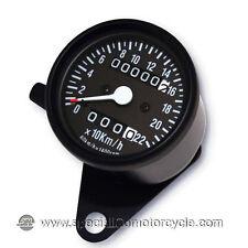 Contachilometri Meccanico Classic Total Black 220Km/h 1,4K Cafè Racer